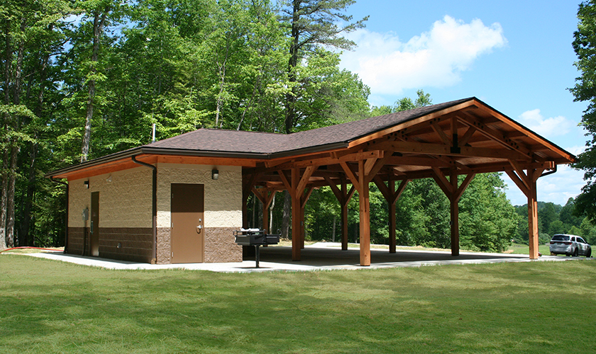 Twins Falls State Park Picnic Shelter, Mullins, WV