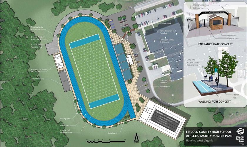 Lincoln County High School Football Complex Master Plan; Hamlin, WV